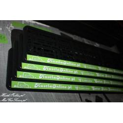ramki z nadrukiem HustlaOnline.pl - Świat Auto Kosmetyków jasno zielone tło