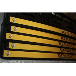 ramki z nadrukiem Renault żółte tło