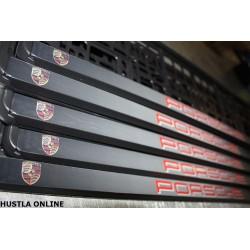 ramki z nadrukiem Porsche szare cieniowane tło