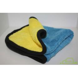 egge Ultra Soft Yellow Blue Microfiber 680gsm Gruba bardzo miękka mikrofibra