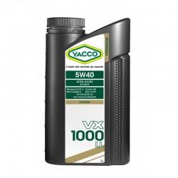 YACCO VX 1000 LL 5W40 1L - 5L olej z aprobarą Porsche, BMW i VW