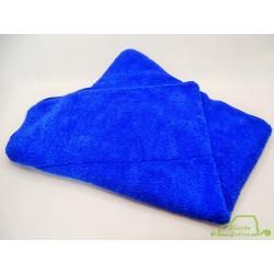 Hustla Online Świat Kosmetyków - FLUFFY Blue Premium Soft 90x60cm 650gsm niebieski i niebieskie obszycie