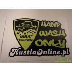 Naklejka Hustla Online Świat Kosmetyków - Płukanie 15,5x11cm