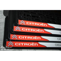 ramki z nadrukiem Citroen - Creative Technology biało-czerwone tło