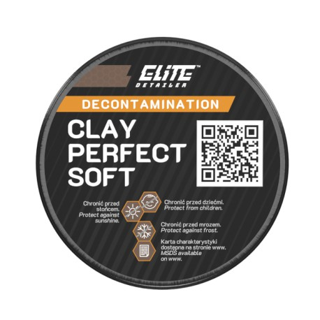 Elite Detailer Clay Perfect 100g - Soft / Medium / Hard - glinka do lakieru 3 twardowści