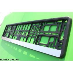 2 ramki HP-eko - czarne ramki z listwą w kolorze chromu