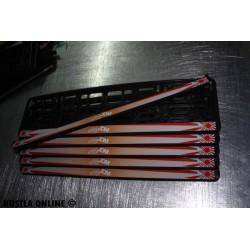 2 ramki z nadrukiem ``Domokun - eat sleep jdm - Hallo Kitty`` biało czerwono pomarańczowe tło