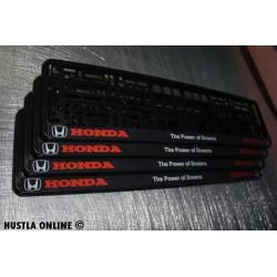 ramki z nadrukiem Honda - The Power of Dreams czarne tło