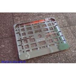 Ramka do tablicy motocyklowej – metalizowana CHROM