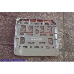Ramka do tablicy motorowerowej / skuterowej – metalizowana CHROM
